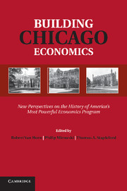 Van Horn, Mirowski, and Stapleford, eds., Building Chicago Economics